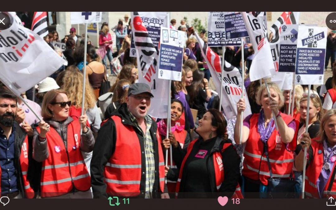 En direct de l'OIT / 14 juin: grève des femmes suisses!