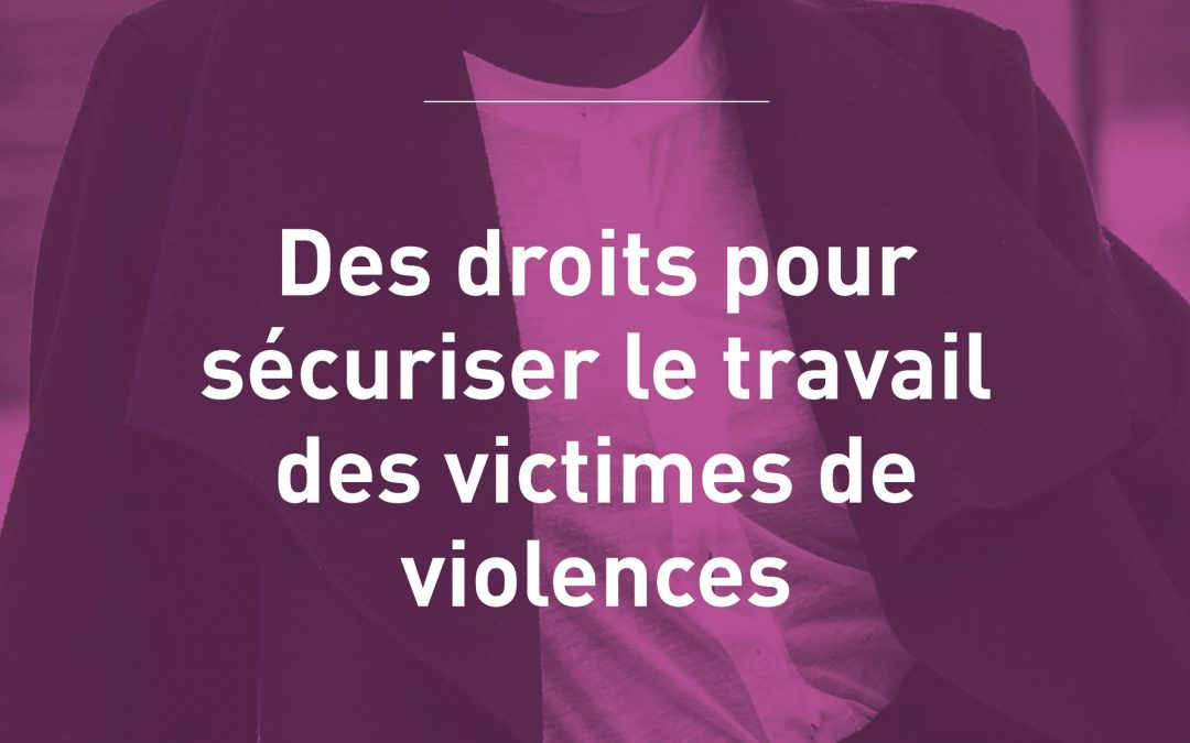 GRENELLE DES VIOLENCES CONJUGALES : LE MONDE DU TRAVAIL OUBLIÉ
