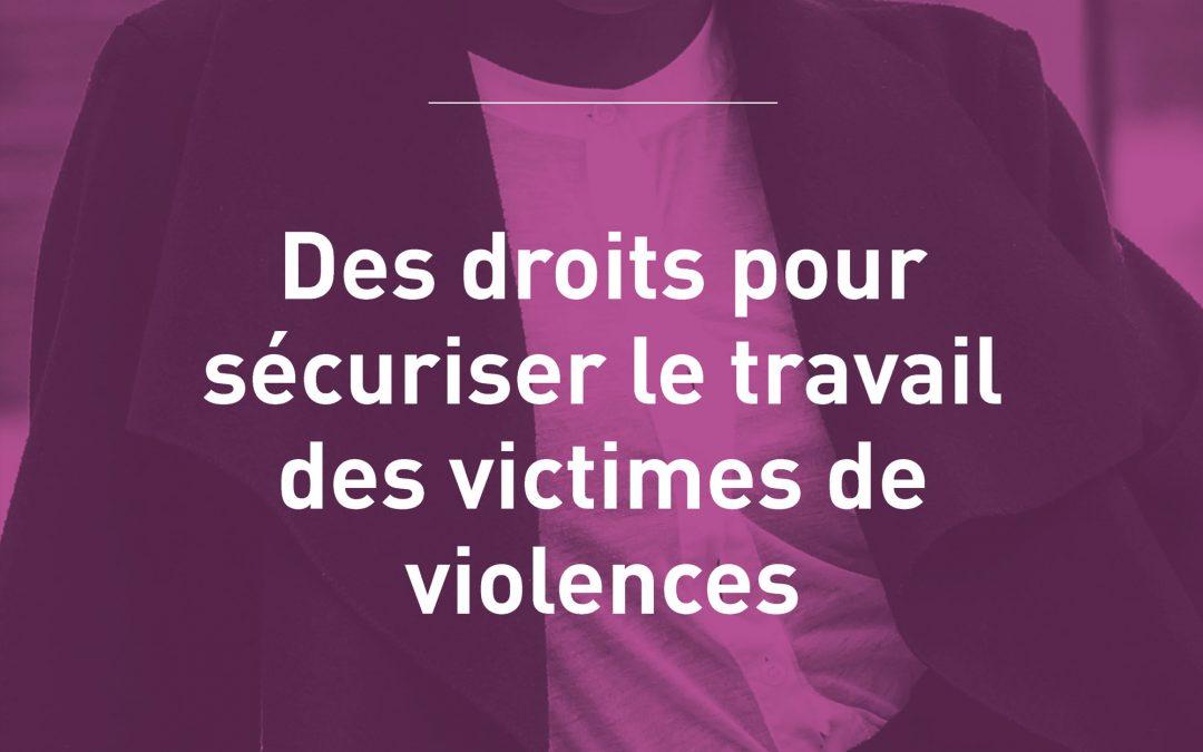 Gagnons des droits pour sécuriser le travail des victimes de violences conjugales !