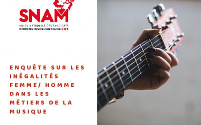 Enquête SNAM CGT sur les inégalités femme homme dans les métiers de la musique
