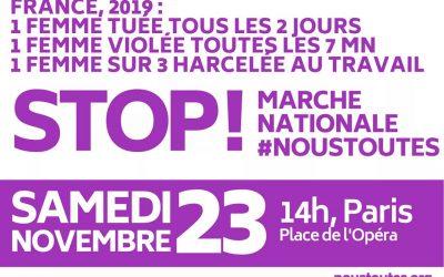 La CGT appelle à la marche #Noustoutes le 23/11 prochain