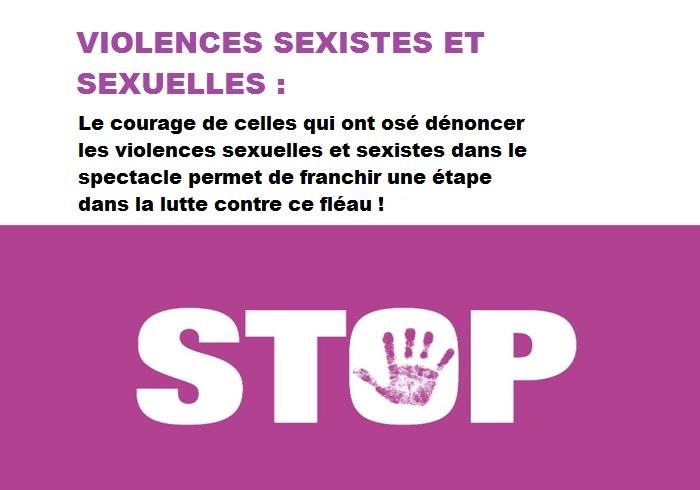 VIOLENCES SEXUELLES DANS LE CINÉMA L'AUDIOVISUEL OU LE SPECTACLE