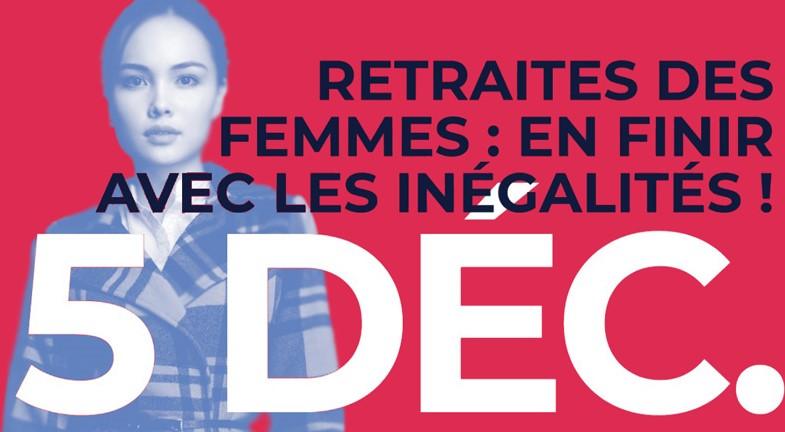 Retraites des femmes : il faut en finir avec les inégalités !