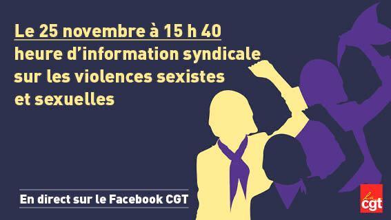 Heure d'info syndicale violences sexistes et sexuelles
