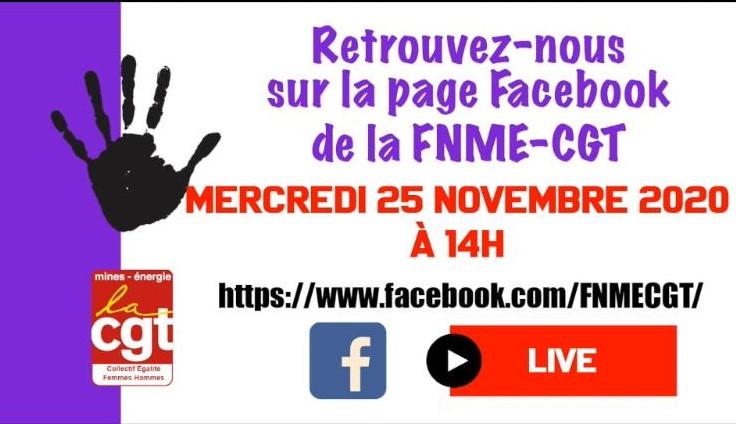 25 novembre 14h Facebook live FNME CGT