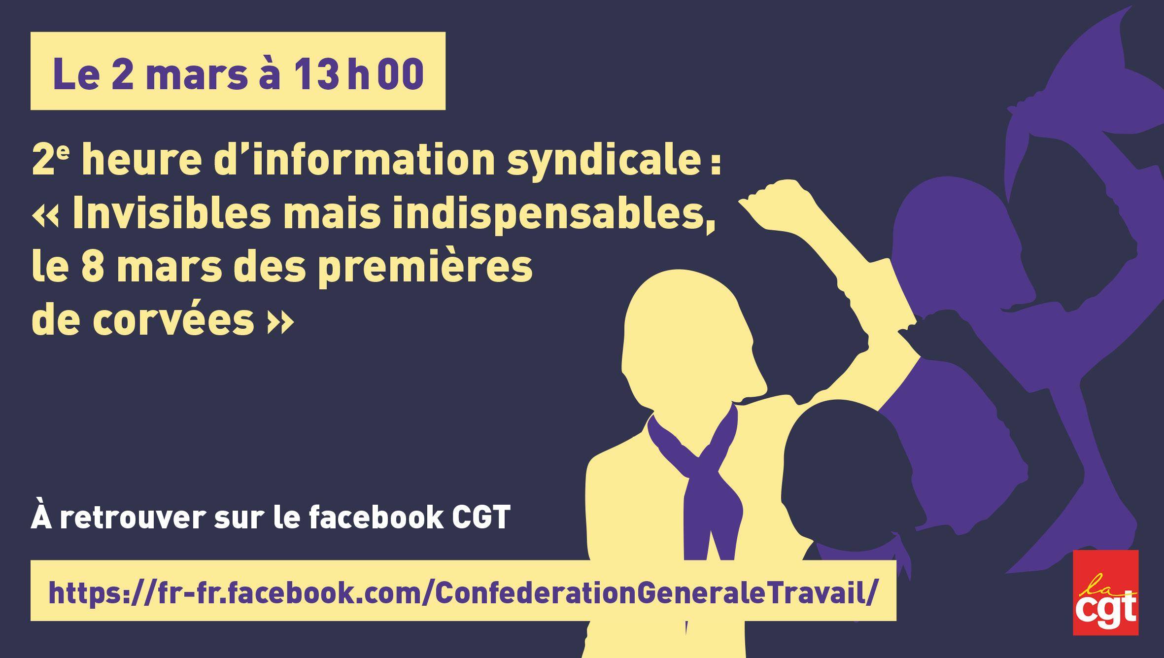 Heures d'information syndicale : « Invisibles mais indispensables, le 8 mars des premières de corvées »