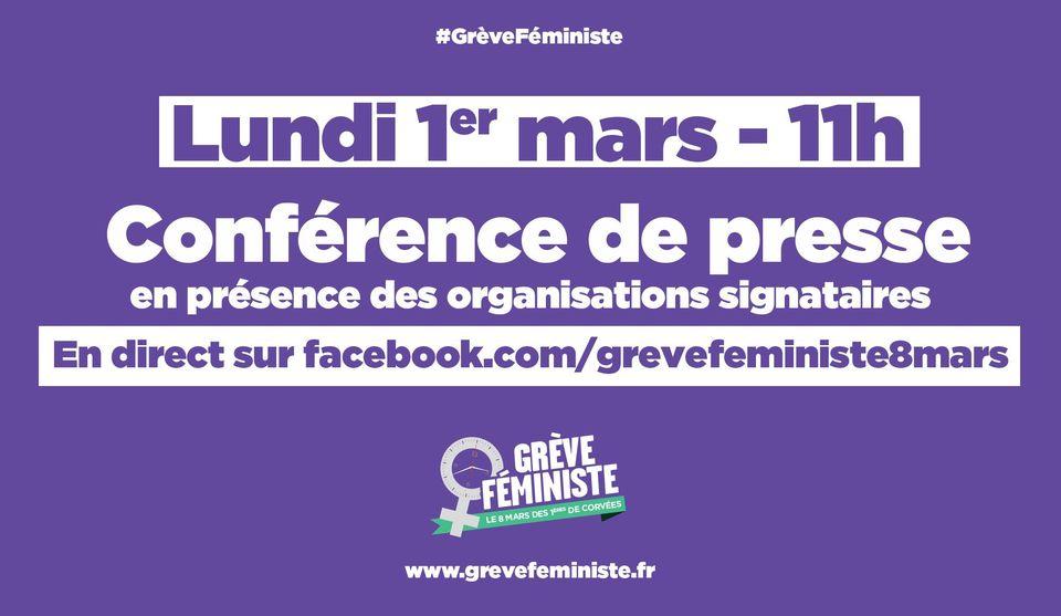Conférence de presse unitaire – Grève féministe