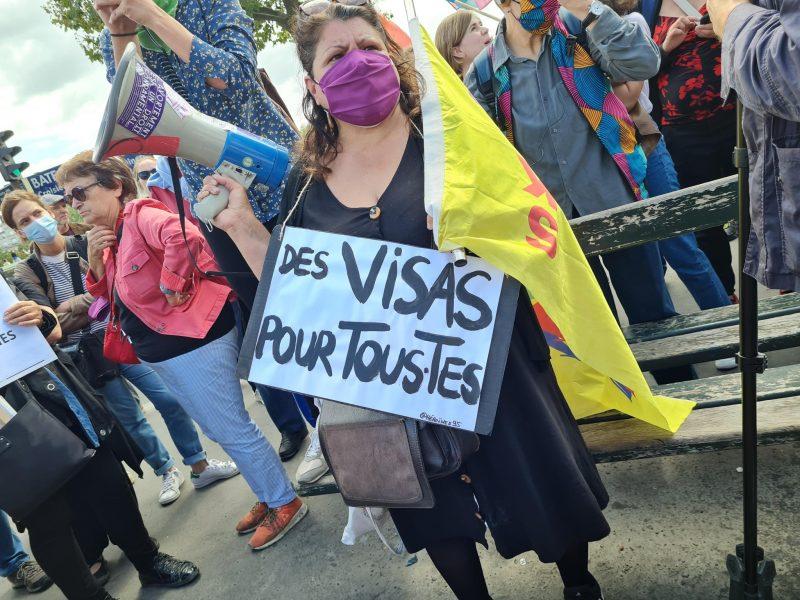 pancarte des visas pour tous.tes